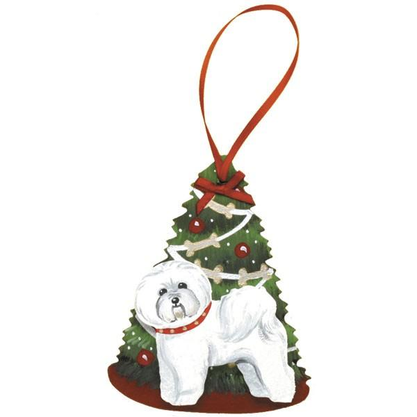 Decorated Tree Dog Breed Ornament