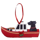 Holiday Lobster Boat Dog Breed Ornament