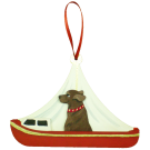 Red Day Sailor Dog Breed Ornament