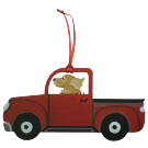Red Truck Dog Breed Ornament