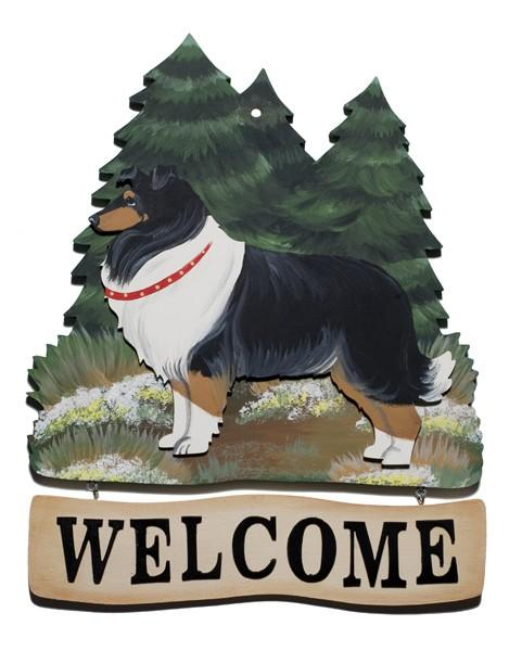 Forest Welcome Sign, Quincy Dog
