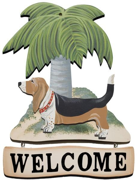 Palm Tree Welcome Sign, Quincy Dog