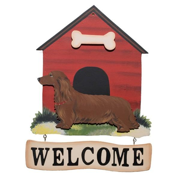 Dog House with Bone Welcome Sign, Quincy Dog