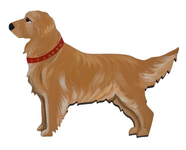 Hand Painted Wooden Dog Breed Magnet