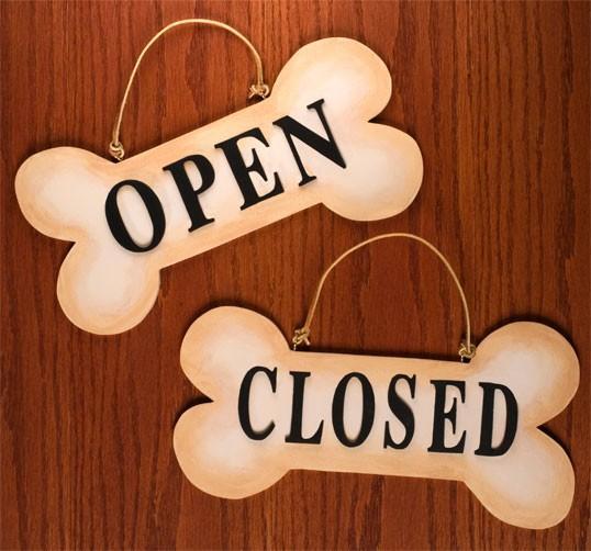 "12"" Open/Closed Bone Sign"