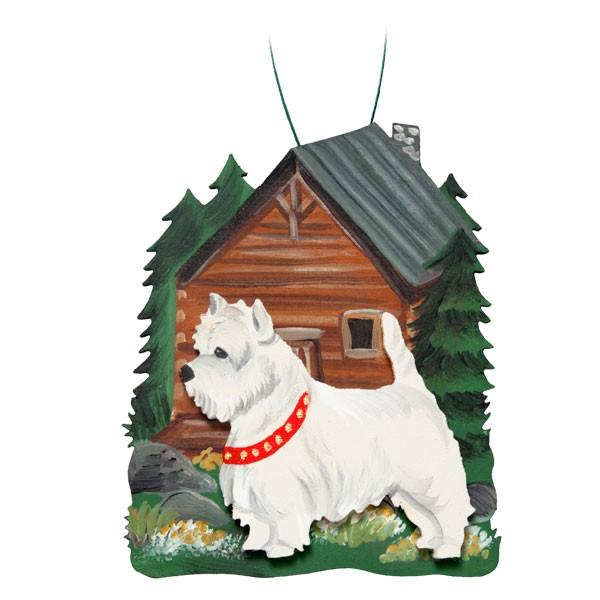Summer Cabin in the Woods Dog Breed Ornament