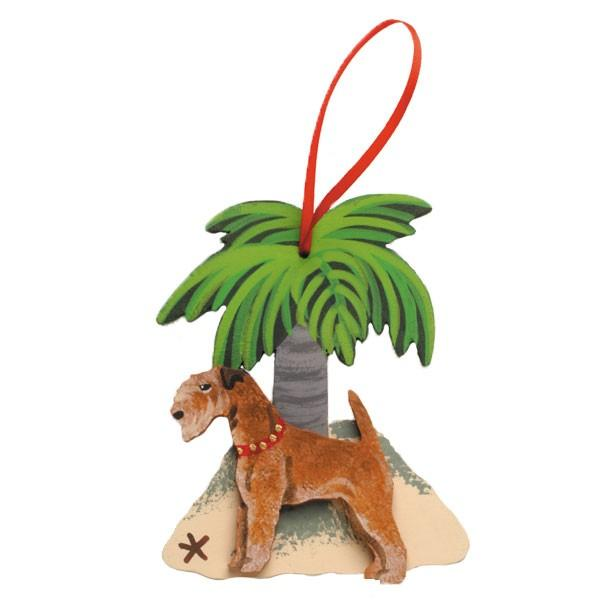 Palm Tree Dog Breed Ornament