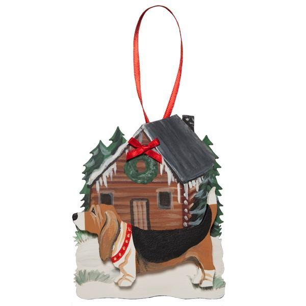Holiday Cabin in the Woods Dog Breed Ornament
