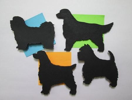 Hand Crafted Wooden Dog Breed Silhouette magnet