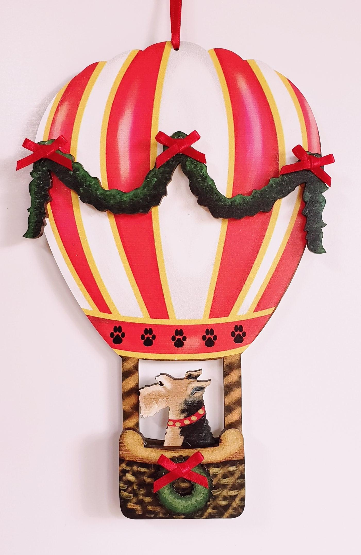 Holiday Hot Air Balloon Dog Breed Ornament