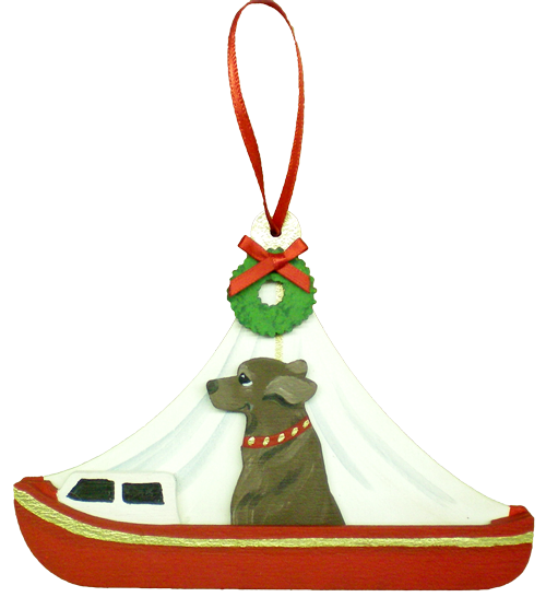 Holiday Red Day Sailor Dog Breed Ornament