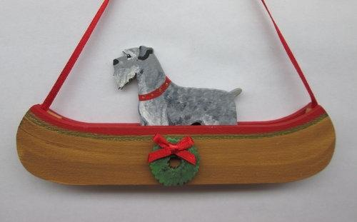 Holiday Canoe Dandy Dog Breed Ornament