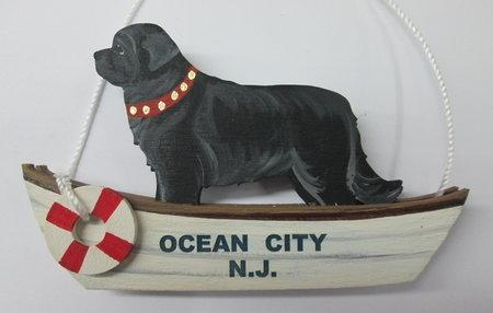 Life Boat Rescue  Dog Breed Ornament featuring a Standing Dandy Dog