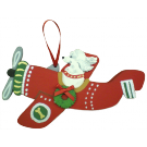 Holiday Red Airplane Dog Breed Ornament