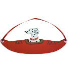 Red Kayak Dog Breed Ornament